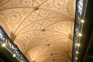 Plafond de la Salle des pas perdus du Palais de Justice de Verviers